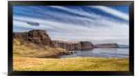 A view East from Neist point_Skye, Framed Print
