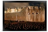 Tower of London Beyond The Deepening Shadows, Framed Print