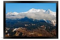 Mont Blanc from La Tania 3 Valleys French Alps, Framed Print