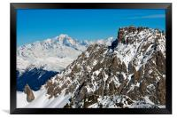 Mont Blanc Mont Vallon Meribel Mottaret France, Framed Print