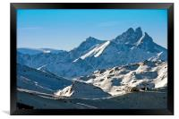 Meribel Mottaret Mont Vallon French Alps, Framed Print