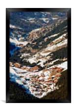Meribel Mottaret 3 Valleys French Alps France, Framed Print