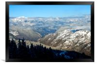 French Alps from Courchevel La Tania 3 Valleys, Framed Print