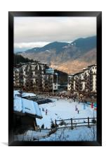 La Tania Courchevel 3 Valleys French Alps, Framed Print