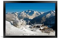 Courchevel La Tania 3 Valleys French Alps France, Framed Print