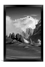 Courchevel 1850 Mont Blanc French Alps France, Framed Print