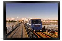 Southend on Sea Pier and Train Essex, Framed Print