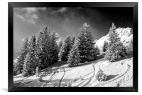 Courchevel 1850 3 Valleys Alps France, Framed Print
