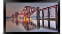 Forth Rail Bridge at sunset, Framed Print