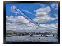 Red Arrows Over London, Framed Print