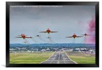 The Red Arrows Take Off - Farnborough Airshow , Framed Print