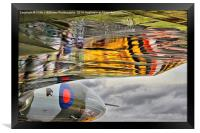 Vulcan Reflections Farnborough 2014 , Framed Print