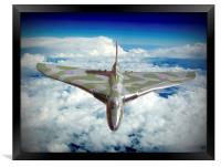 Vulcan XH558 In The Sky !!, Framed Print