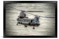 Chinook as Seen From Beachy Head - Airbourne 2014, Framed Print