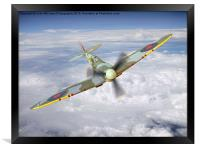 Spitfire In The Clouds 2, Framed Print