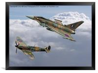 Spitfire and Typhoon Battle of Britain 3, Framed Print