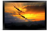 The Two Lancasters at Sunset 1, Framed Print