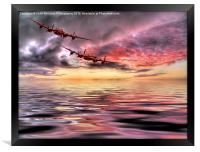Out Of The Sunset - The 2 Lancasters 3, Framed Print