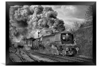 West Country Class Wadebridge Departs BW, Framed Print