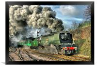 West Country Class Wadebridge Departs, Framed Print