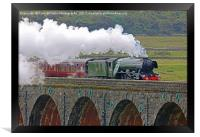 Flying Scotsman At The Ribblehead Viaduct 2, Framed Print