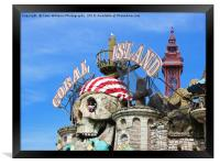 Welcome To Blackpool., Framed Print