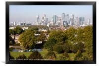 City of London from Greenwich Hill , Framed Print
