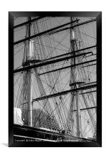 Masts and Rigging of the Cutty Sark  , Framed Print
