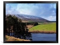 The side of Pendle Hill, Framed Print