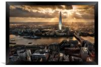 London from the Sky Garden, Framed Print