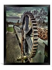 A Cog In Chains., Framed Print