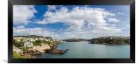 Fowey and Polruan  from St Catherine's Castle,, Framed Print