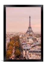 Autumnal Paris and the Eiffel Tower., Framed Print