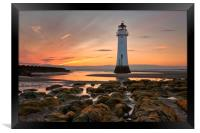 New Brighton Sunset, Framed Print