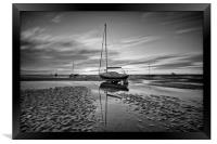 GROUNDED ON THE ESTUARY, Framed Print