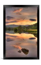 Rydal water at Sunset, Framed Print