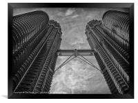 Petronas Towers in Malaysia, Framed Print