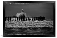 Storm in Black and White, Framed Print