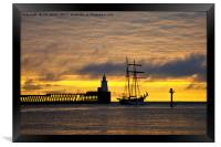 The Flying Dutchman leaving port, Framed Print