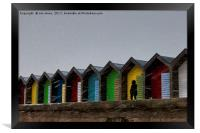 Beach Huts for hire - Heating optional, Framed Print