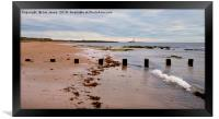 Whitley Bay beach panorama, Framed Print