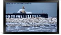 Stormy weather at the river mouth, Framed Print