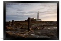 Early morning at St Mary's Island, Framed Print