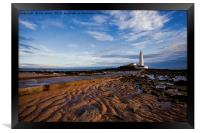 Another daybreak at St Mary's Island, Framed Print