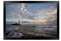 Shades of blue at St Mary's Island, Framed Print