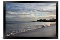 The beach at Seaton Sluice, Northumberland, Framed Print