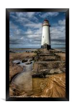 Lighthouse Steps, Framed Print