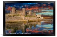 Conwy Castle Sunset, Framed Print