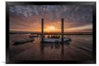The perfect end to a perfect fishing trip! , Framed Print