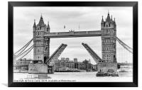 Tower Bridge - Toned image, Framed Print